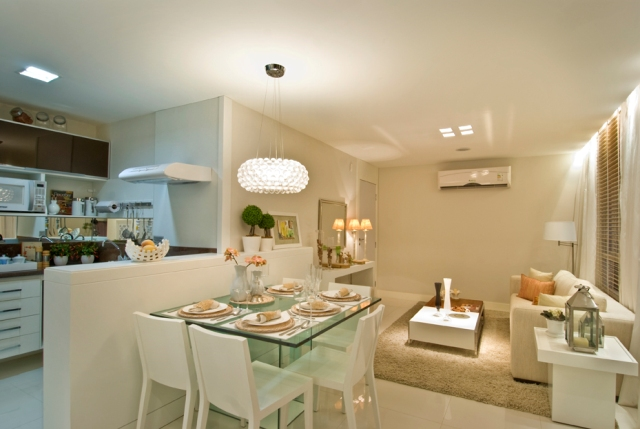 Qual Lustre Ideal Para Sala De Estar Pequena ~ saladejantardecoradaapartamentopequeno
