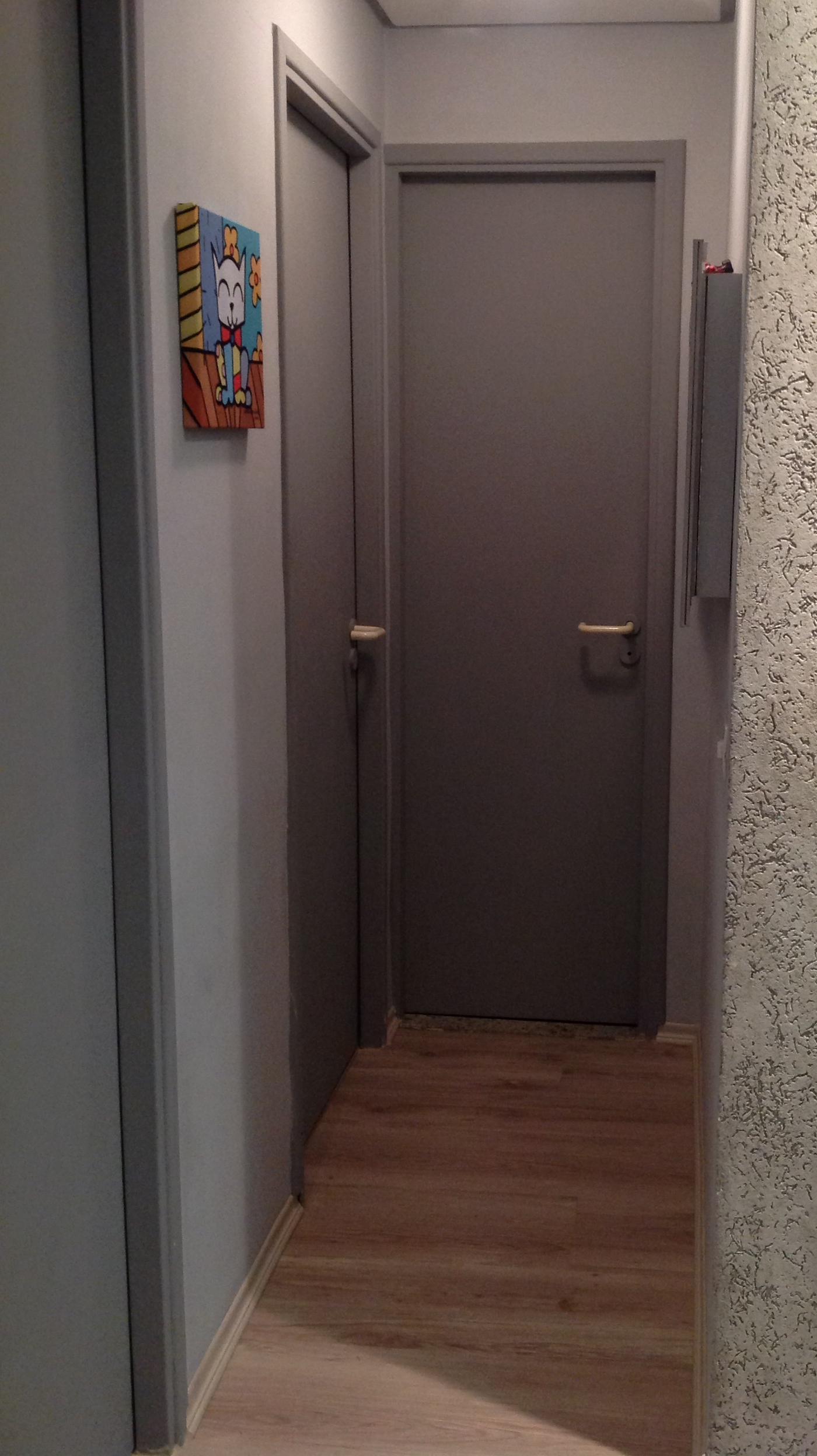 Portas do Banheiro e do quarto solteiro. Porta do meu quarto e do  #835E48 1400 2496