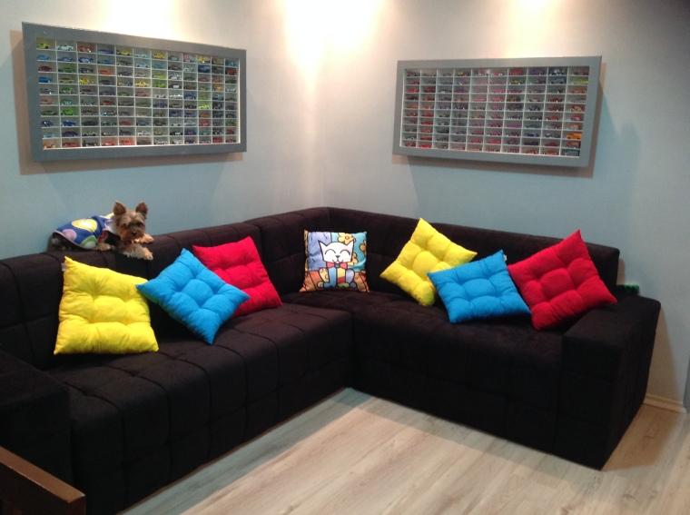 Foto da sala decorada.